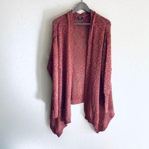 Oversize Asymmetrical Marsala Cardigan/Sz:L/NWT